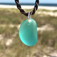 Tropical Seas Sea Glass Nugget Necklace by Wave of Life