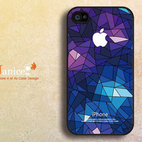 cool  iphone 4 cases, iphone 4s cases, apple iphone case 4,iphone 4 cover , with blue glass design F404