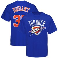 Majestic Oklahoma City Thunder #35 Kevin Durant Youth Royal Blue Name & Number T-shirt