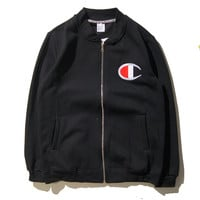 Sports On Sale Hot Deal Korean Zippers Jacket Simple Design Jacket [9391649991]