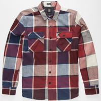 Volcom Dayton Mens Woven Flannel Cherry  In Sizes