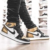 AJ 1 Air Jordan 1 tide brand personality wild high-top shoes