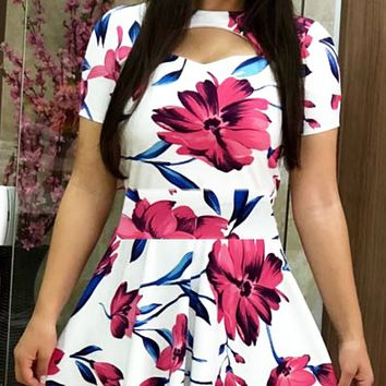 Explosive hot sale sexy fashion digital printing dress