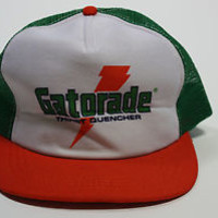 Vintage 70s/80s Rare Gatorade Sports Drink Snapback Throwback Trucker Hat Cap