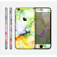 The Glistening Colorful Unfocused Circle Space Skin for the Apple iPhone 6