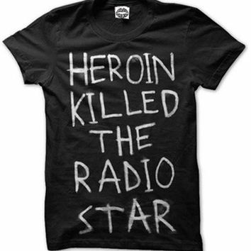 ubiore.pl • Produkty • Sober Is Sexy • Heroin Killed The Radio Star Tee in Black
