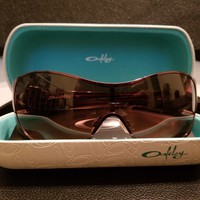 """100% AUTHENTIC NEW Oakley """"Breathless"""" Sunglasses with Pink Trim"""