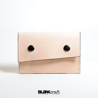 NEW PRODUCT  -  Hand Stitched Raw Leather Card Holder/ Wallet