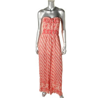 Free People Womens Knit Printed Jumpsuit