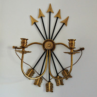 Arrow and Bow Candle Sconce