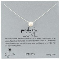 "Dogeared ""Pearls of Love"" Sterling Silver and Pearl Necklace, 18"""