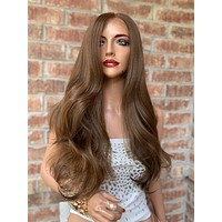 Brown Honey Lace Hair Wig | Invisible Center Parting | Maribel 0519