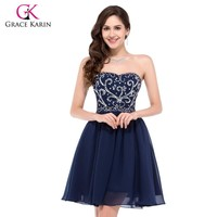 Womens Short Prom dress Chiffon Formal Homecoming Beaded Gowns