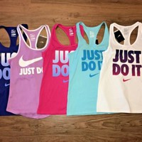 Nike JDI Tank Top Racerback Regular Fit Swoosh 729763 Women's NWT