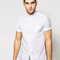 Jack & Jones | Jack & Jones Short Sleeve Oxford Shirt at ASOS
