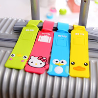 2016 New Rubber Funky Travel Luggage Label Straps Suitcase Name ID Address Tags Luggage Tags P006