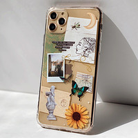 Strange Abstract Clippings Clear Phone Case