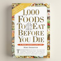 """""""1,000 Foods to Eat Before You Die"""" Book"""