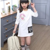 Girls Dress Cartoon Spring Autumn Princess Party Dress For Girls Teenage Kids Girls Clothes