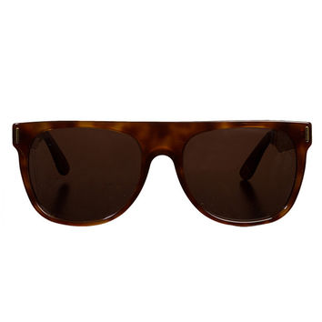 SUPER - Flat Top Sunglasses (Havana Glitter)