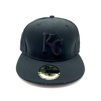 New Era 59FIFTY Kansas City Royals Blackout Basic Fitted Hat