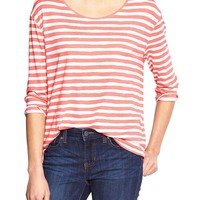Gap Women Factory Stripe Three Quarter Sleeve Tee