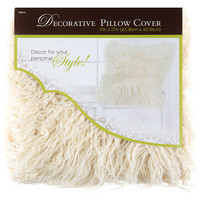 White Faux Fur Pillow Cover | Hobby Lobby | 1090117