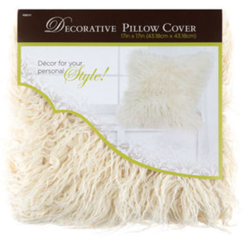White Faux Fur Pillow Cover   Hobby Lobby   1090117