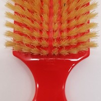 Bass Brushes 100% Wild Boar Bristle Classic Men's Club Style Hair Brush, with 100% boar bristle acrylic Handle, Shines, Conditions, and Polishes. Model #153s