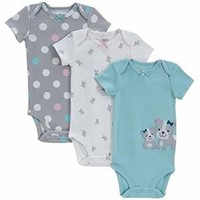 Carter's Baby-girls Child of Mine Polka Dots Puppies Bodysuits