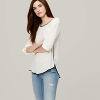 Piped Pocket Blouse