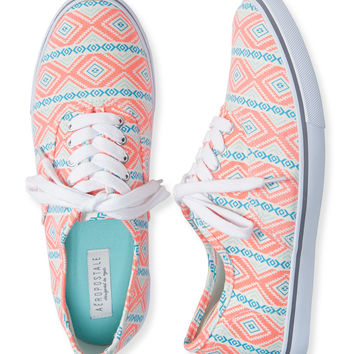 Neon Southwestern Low-Top Sneaker