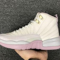 DCCKL8A Jacklish Girls Air Jordan 12 Retro Gs Heiress Plum Fog 845028-025