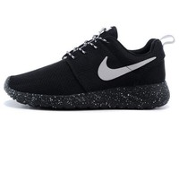 Nike Roshe run couple light sports leisure net surface breathable Olympic running shoes Black starry sky soles