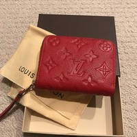 Louis Vuitton Empreinte Small Zip Wallet Red Zippy Coin Purse