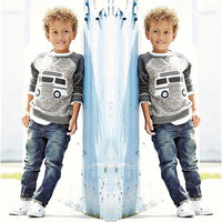 2PCS Baby Boys Long Sleeve T-Shirt + Denim Pants Set Kids Casual Clothes Outfits = 1930051076