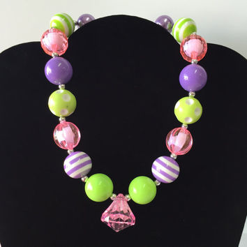 Spring Summer Bubblegum Necklace