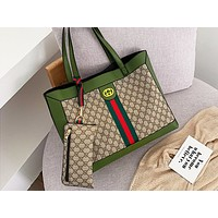 LV x GUCCI hot seller printed patchwork color two-piece single-shoulder bag hot seller casual lady shopping bag #6