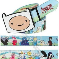 Licensed cool NEW Adventure Time with Finn and Jake REVERSIBLE BELT & BUCKLE Gender-Bent Group