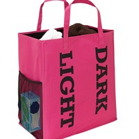 Double Sorter Laundry Bag - Black/Fuchsia