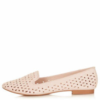 MEEK2 Cut Out Slippers - Nude