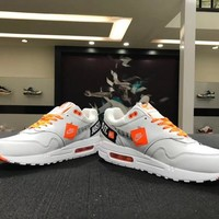 "Nike Air Max 1 ""Just do it "" 917691-100 Basketball Sneaker"