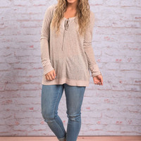 Love And Learn Top, Taupe