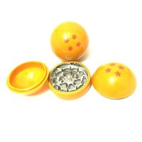 Drop Shipping 3part DRAGON BALL Herb Grinder Weed  Metal Zinc Alloy Acrylic Smoke Tobacco Crusher for Water Pipe Hookah Pokeball