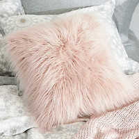 Aerie + Dormify Faux Lamb Fur Pillow , Rose