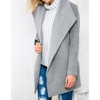 DCCKI2G Woolen lapel fashion coat