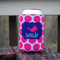 Personalized Can Sleeve - Whale