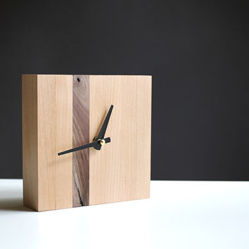 Modern 5.5 in. square table clock