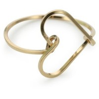 "By Boe Yellow Gold-Plated Silver ""Sweetheart Ring"", Size 7"