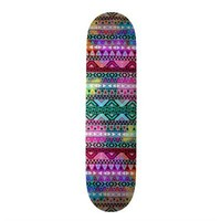 Pink Purple Bright Andes Abstract Aztec Pattern Skate Board Deck from Zazzle.com